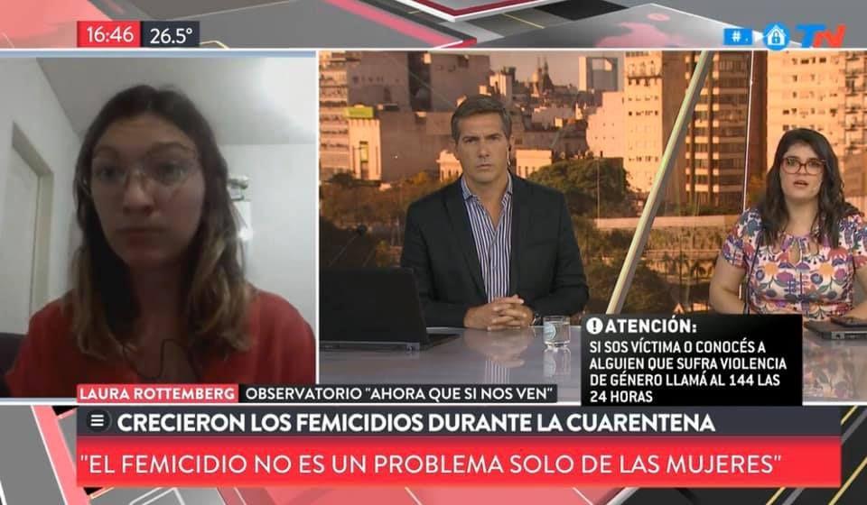 tn periodistas y compañera del observatorio hablando de femicidios