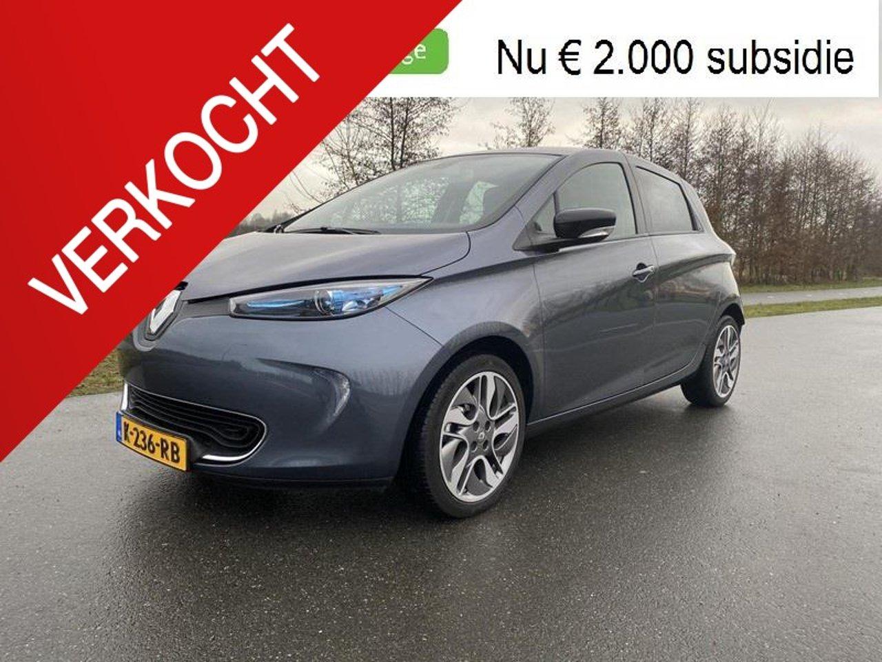 Renault Zoe R90 Intens 41 kWh (ex Accu) prijs is inclusief BTW en € 9950 met subsidie eraf