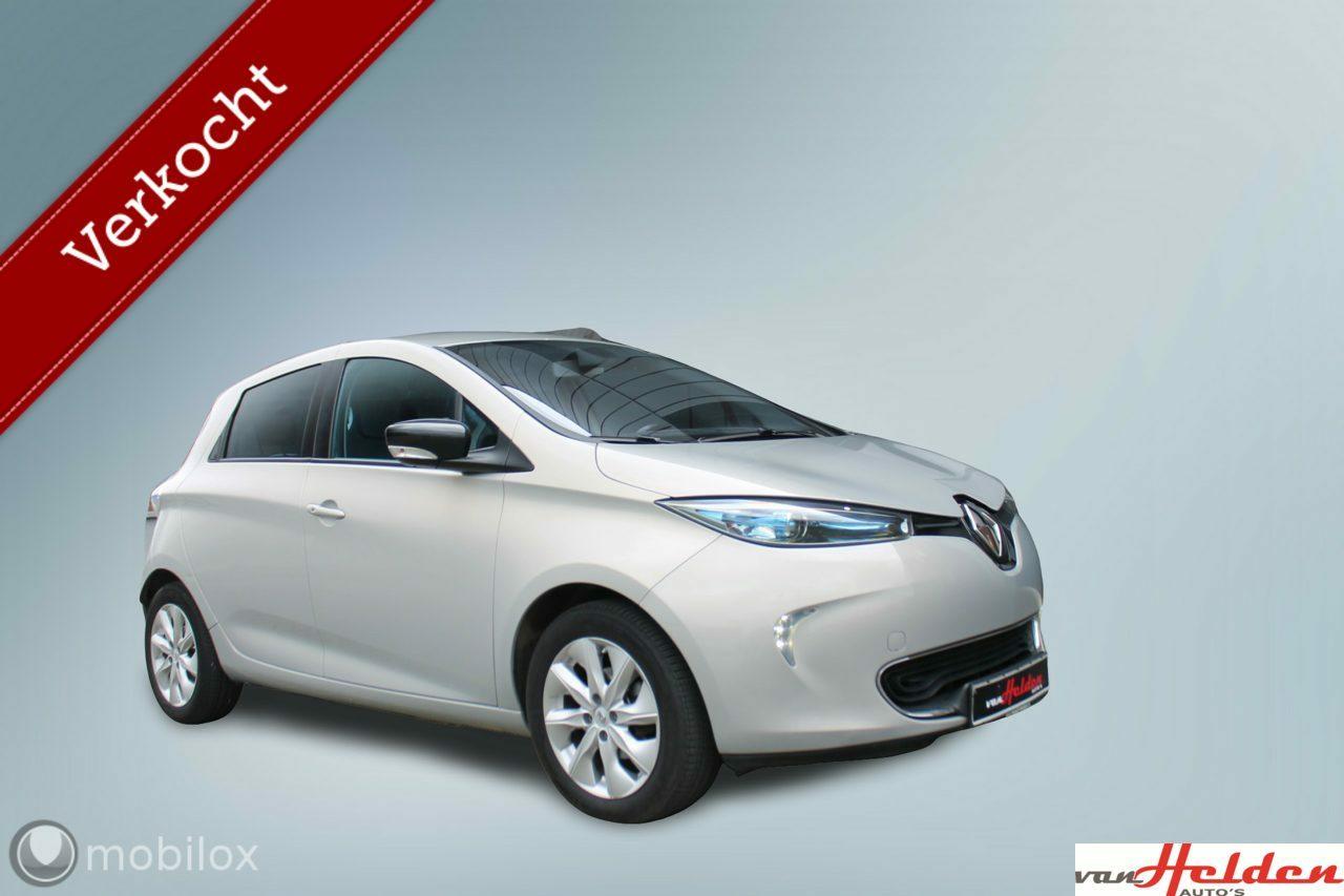 RenaultZoe - Q90 Intens Quickcharge Grote Range NAVI PDC 1e Eigenaar Lichtmetaal Etc
