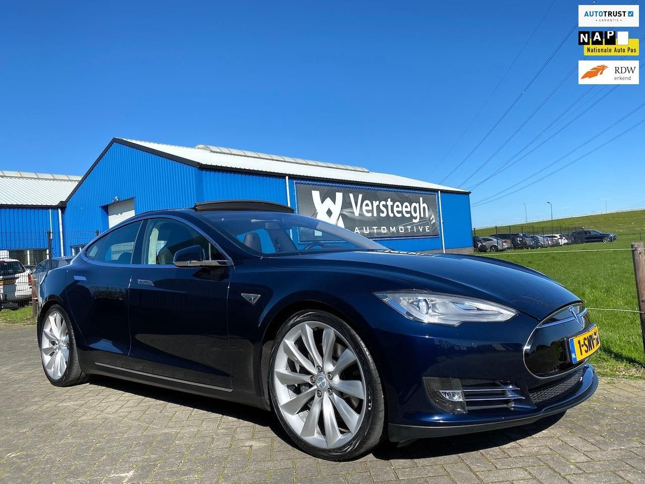 Tesla Model S 85 Performance P85 7-zits Panorama Tech Pack