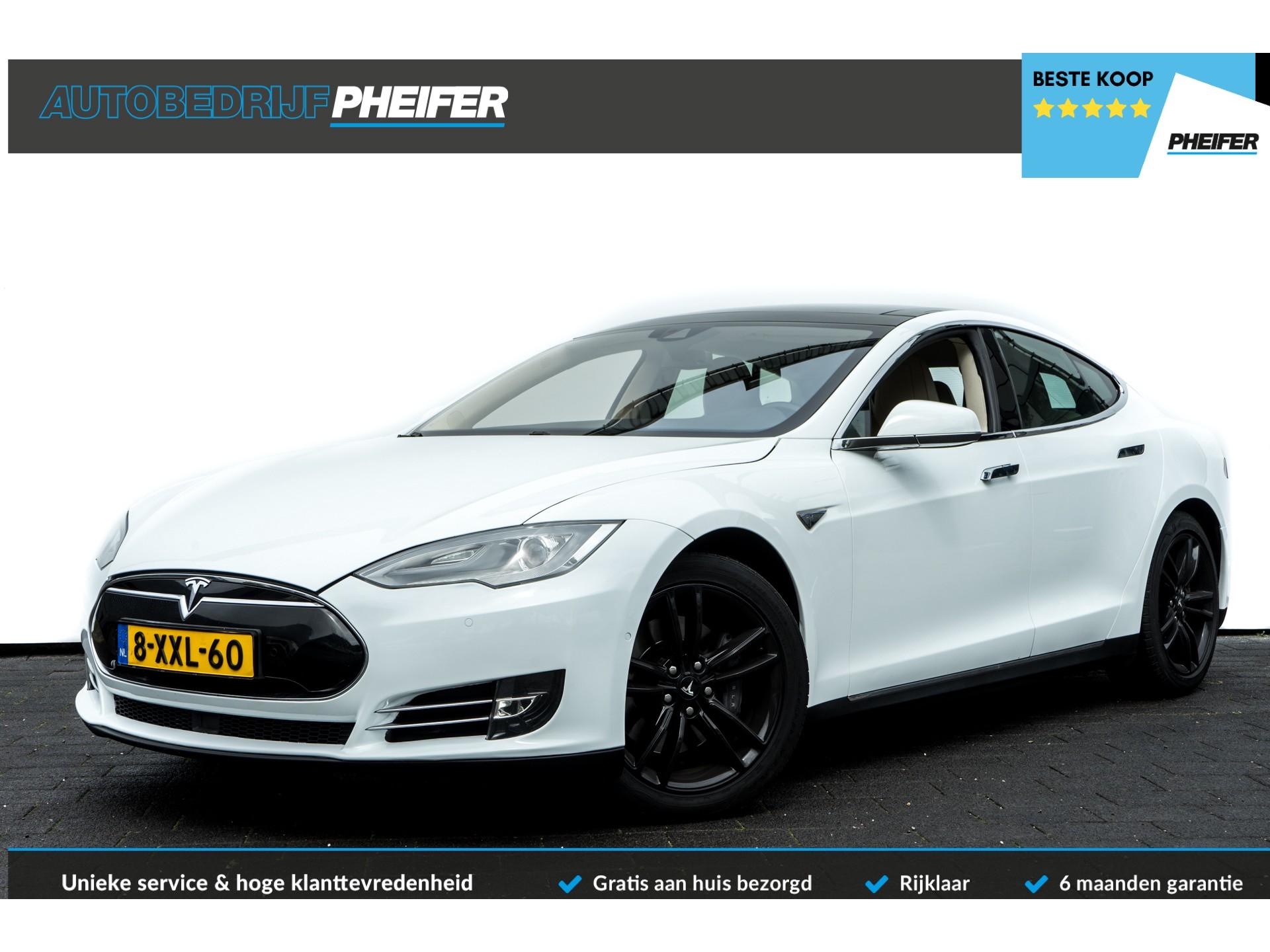 Tesla Model S 85 Panoramadak/ Luchtvering/ Leer/ Stoelverwarming/ Autopilot .