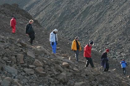 Hiking auf Spitzbergen#}