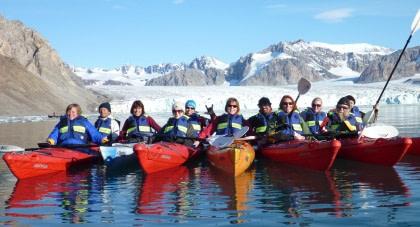 Kajakfahren in Spitzbergen#}