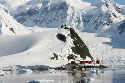 Betreten Sie den antarktischen Kontinent#}