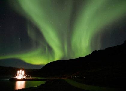 Scoresby Sund - Aurora Borealis, Fly & Sail