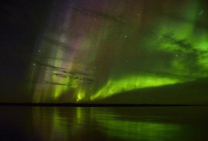 Scoresby Sund, Aurora Borealis