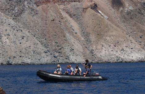 Zodiac cruising around Ascension