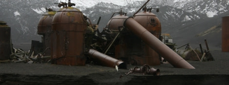Remains of the whaling station's boilers