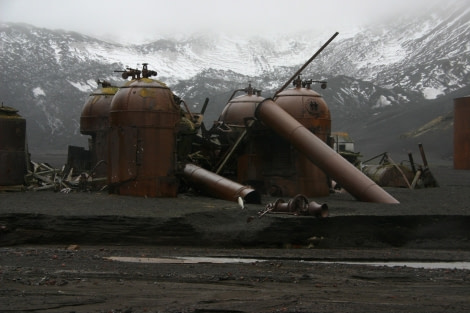 Remains of the whaling station boilers