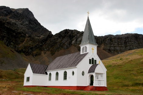 Norwegian Lutheran Church, also known as the Whalers Church and as Grytviken Church