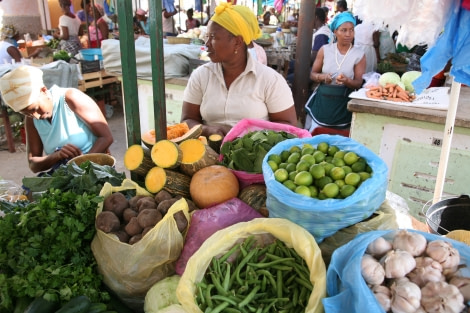 Memories of the colourful market with fresh products