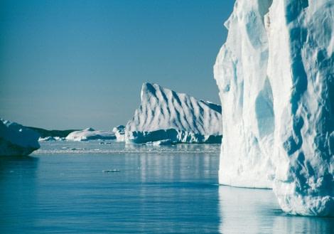 Huge ice bergs