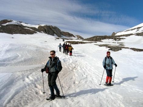 Snowshoeing makes it easier to walk through deep snow