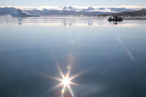 Zodiac cruising, East Greenland