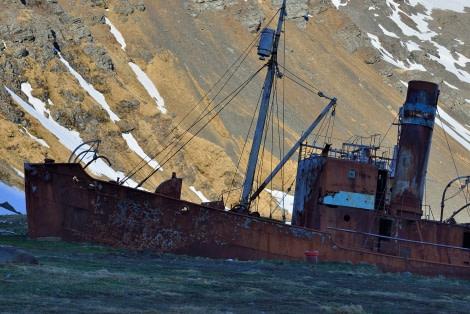Grytviken_Old whalers boat_South Georgia_November