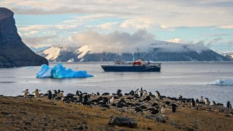 M/V Ortelius at devil's island, antarctica