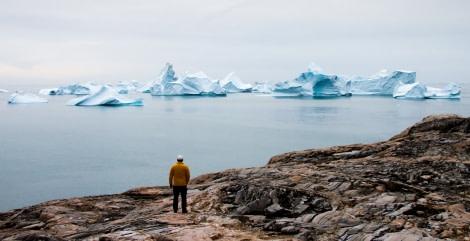 Greenland-Jeff overlooking icebergs from Isotorq.JPG