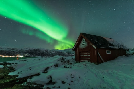 North Norway, Boathouse under the northern lights