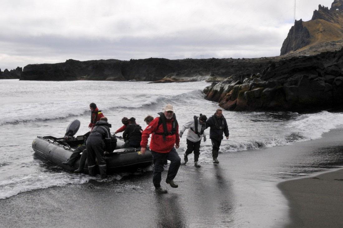 Wet landing on Jan Mayen