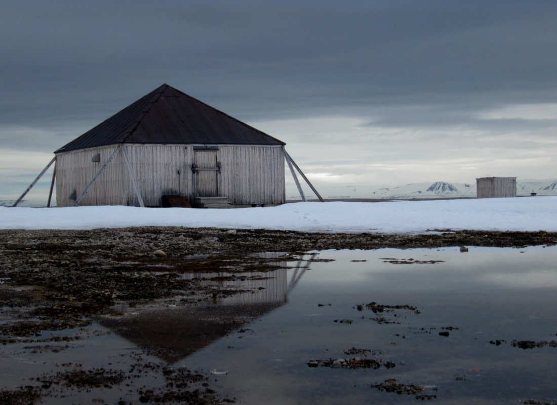Wooden hut on Jan Mayen