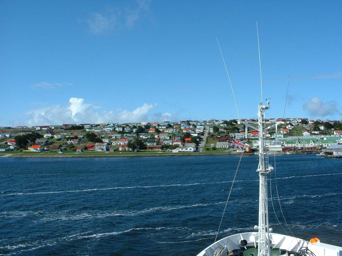 Arrival at Port Stanley, Falkland Islands