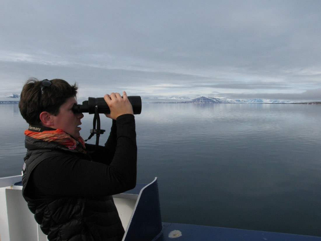 Birdwatching with binoculars in the polar regions