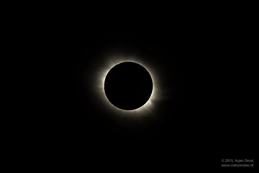 Total solar eclipse in Longyearbyen in 2015