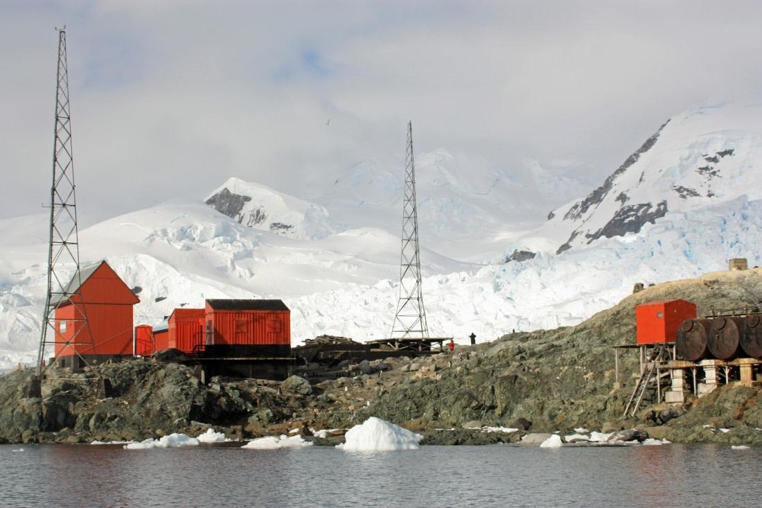 Almirante Brown Base at Paradise Bay in Antarctica