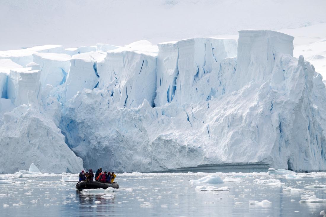 Zodiac cruise in Paradise Bay, Antarctica