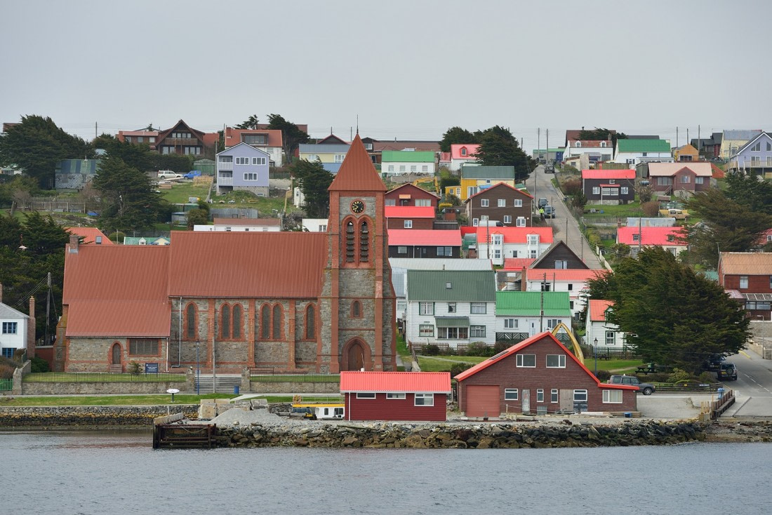 A view on Stanley, Falkland Islands
