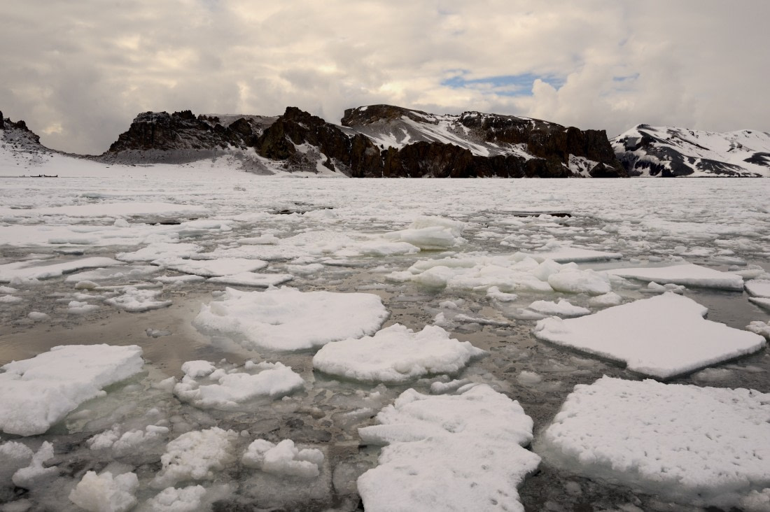 Weddell Sea landscape with pack ice