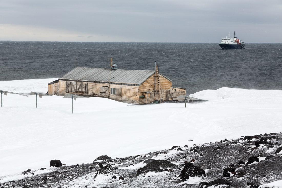 Scott's Hut on Ross Island in the Ross Sea