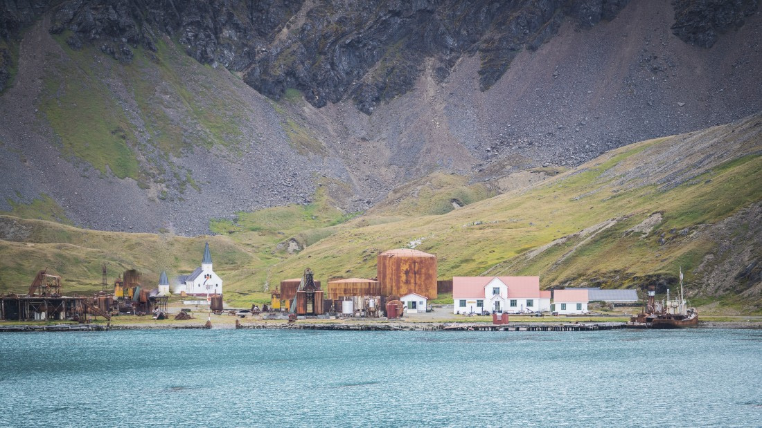 An overview of Grytviken in South Georgia