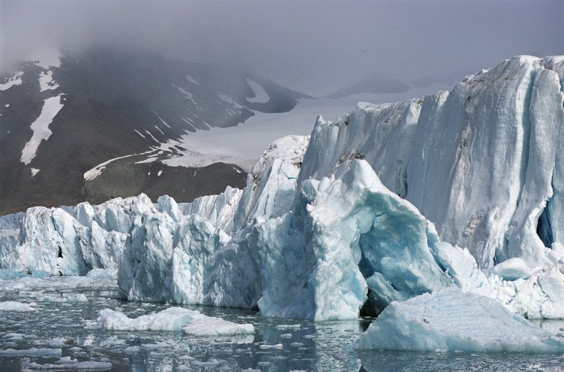 Monaco glacier in Spitsbergen
