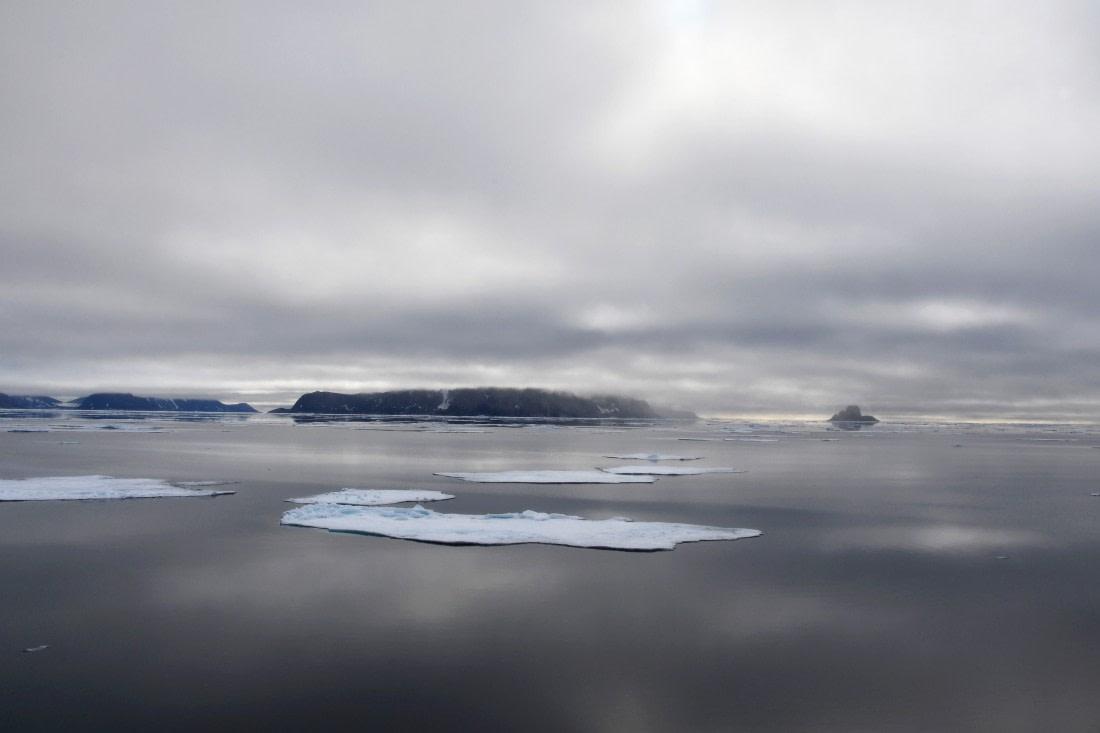 Pack ice near Sjuøyane