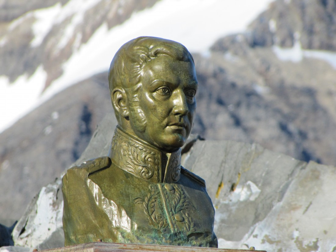 Bust of General San Martin at Esperanza Base