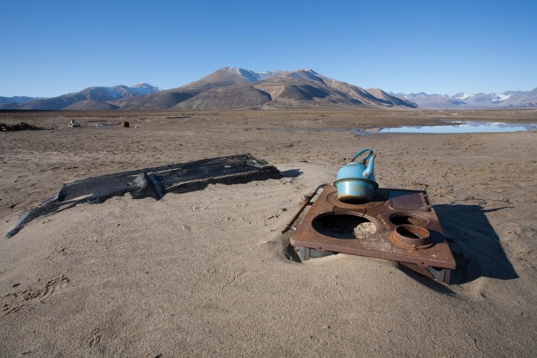 Archeological remains at Antarctichavn