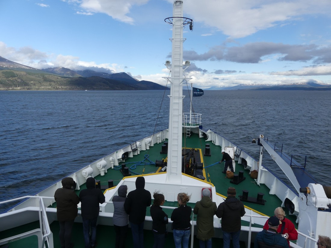 Polar expedition vessel Plancius in the Beagle Channel