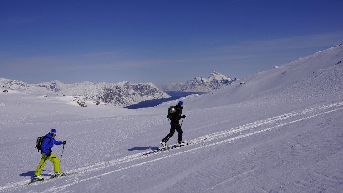 Ski mountaineering in West Greenland
