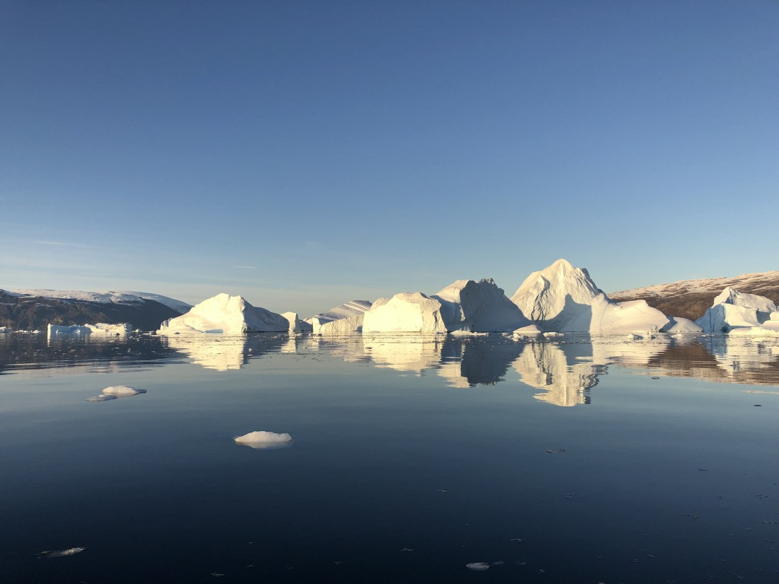 Icebergs at Røde Ø