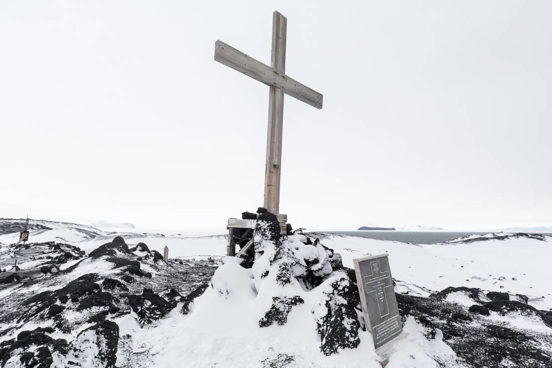 Memorial cross at Cape Evans