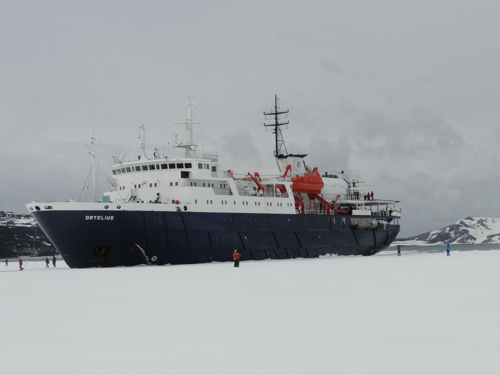 Walking on the pack ice in the Weddell Sea