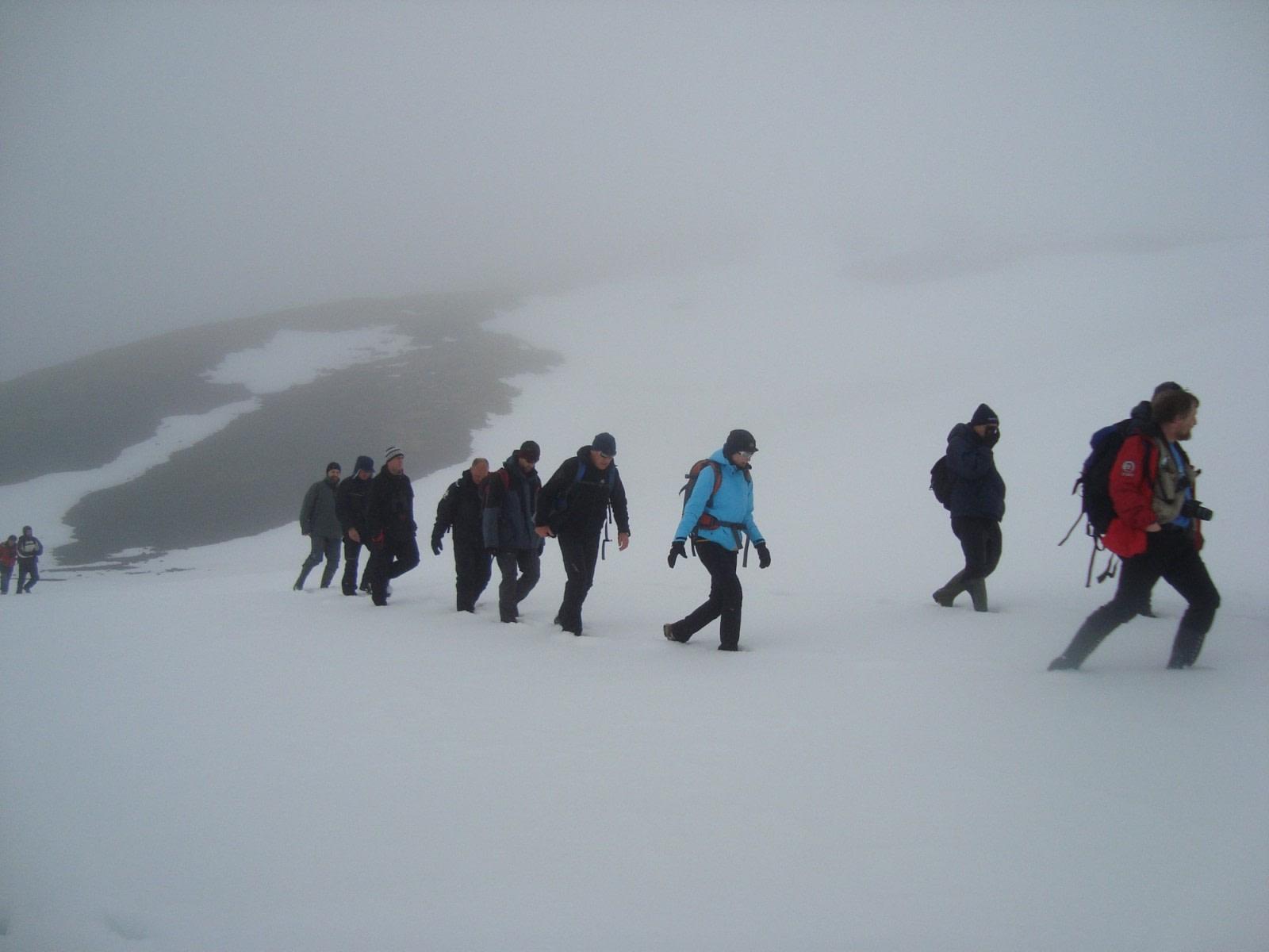 Hike to Kvalrossbukta on Jan Mayen