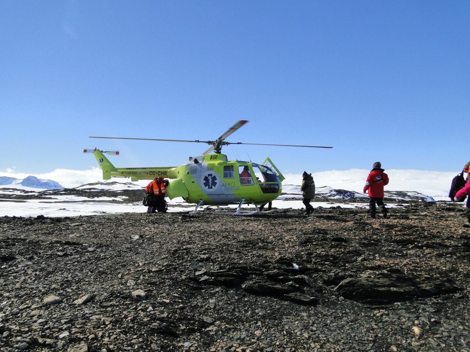 Helikopterflüge über dem Weddell-Meer