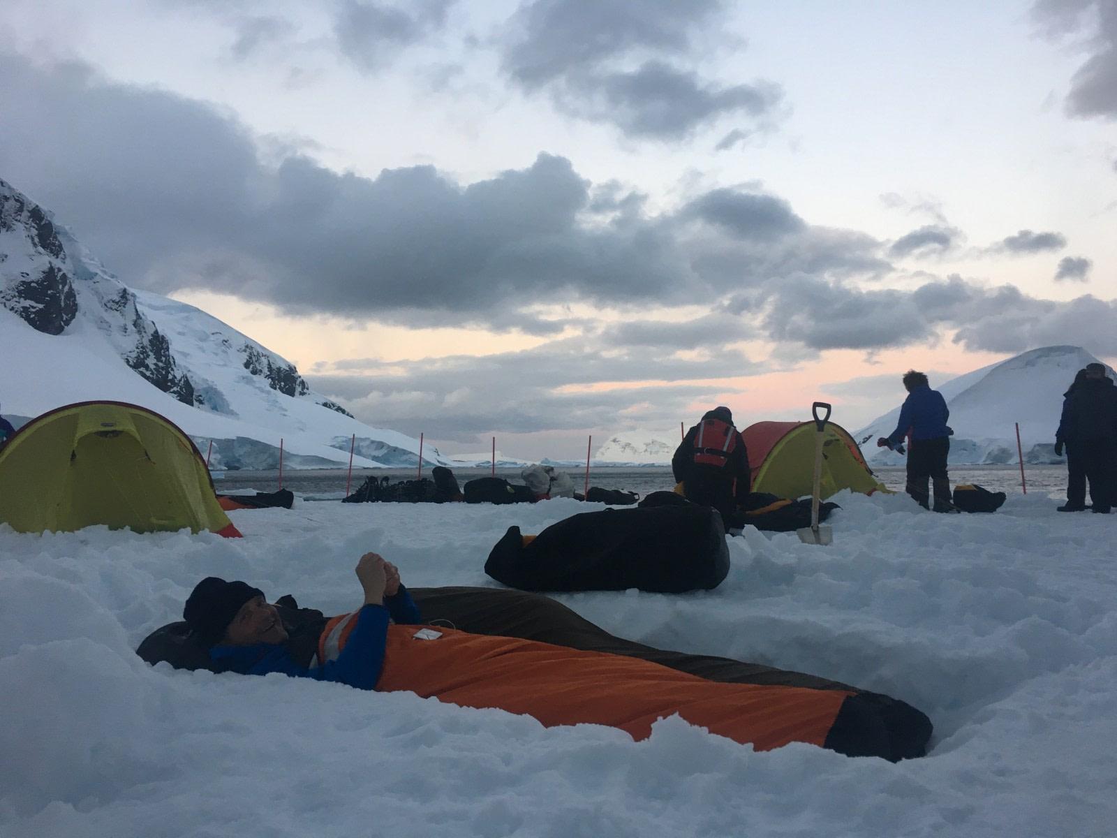 Camping, bivy bag, Antarctica, November - © unknown-Oceanwide Expeditions.JPG