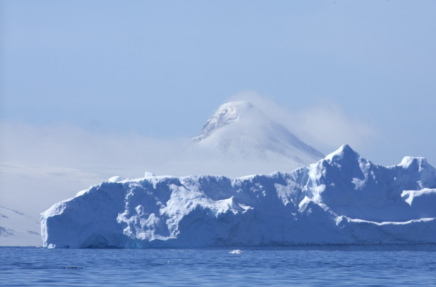 There are huge icebergs in the Weddell Sea