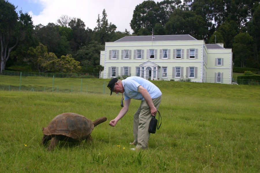 Visit the grounds of Plantation House (the Governor's residence) with Jonathan the turtle