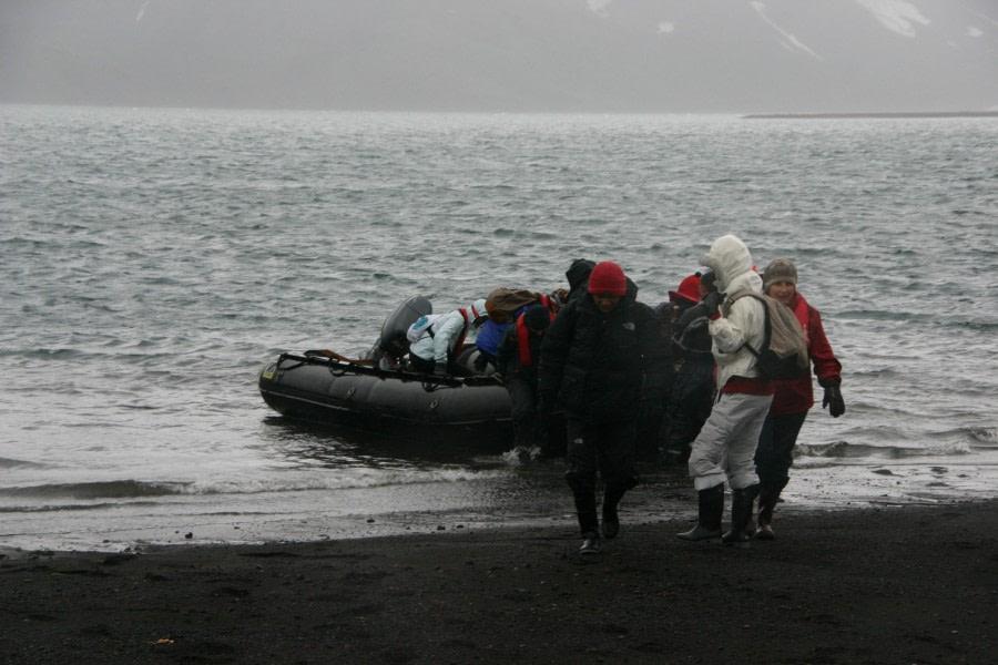 Zodiac landing on Whalers Bay