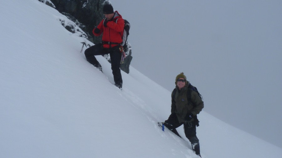 Ascending an Antarctic mountain