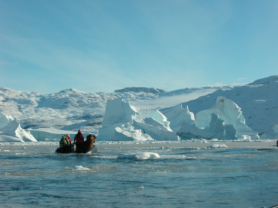 East Greenland, Scoresby sund, typical zodiac cruising scenery